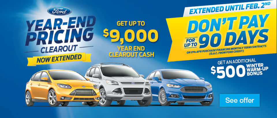 Year-End Pricing Clearout. Now Extended!