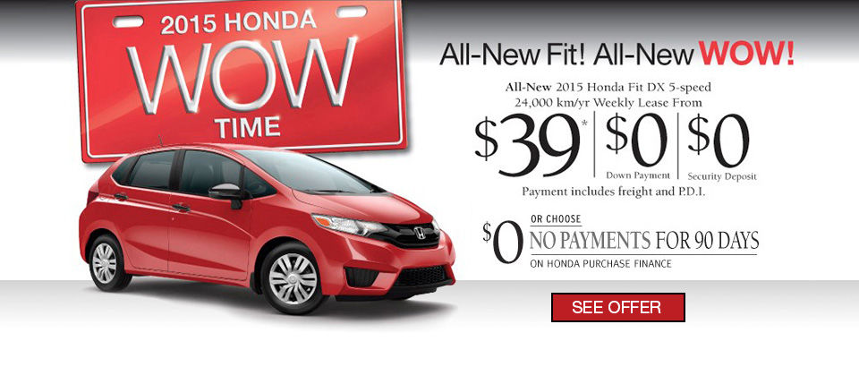 LEASE THE 2015 HONDA FIT - Wow Sales Event! (Copy)