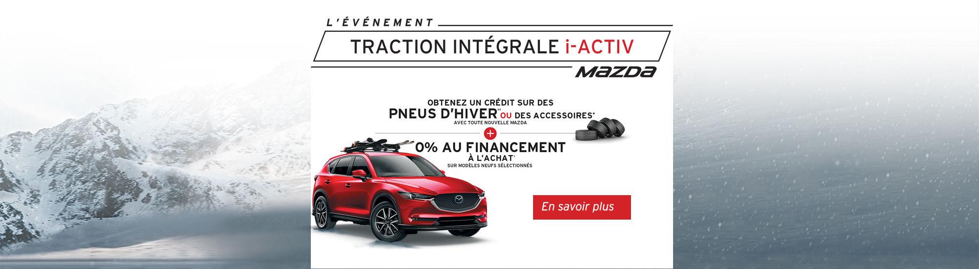 L'événement tractio intégrale i-activ Mazda