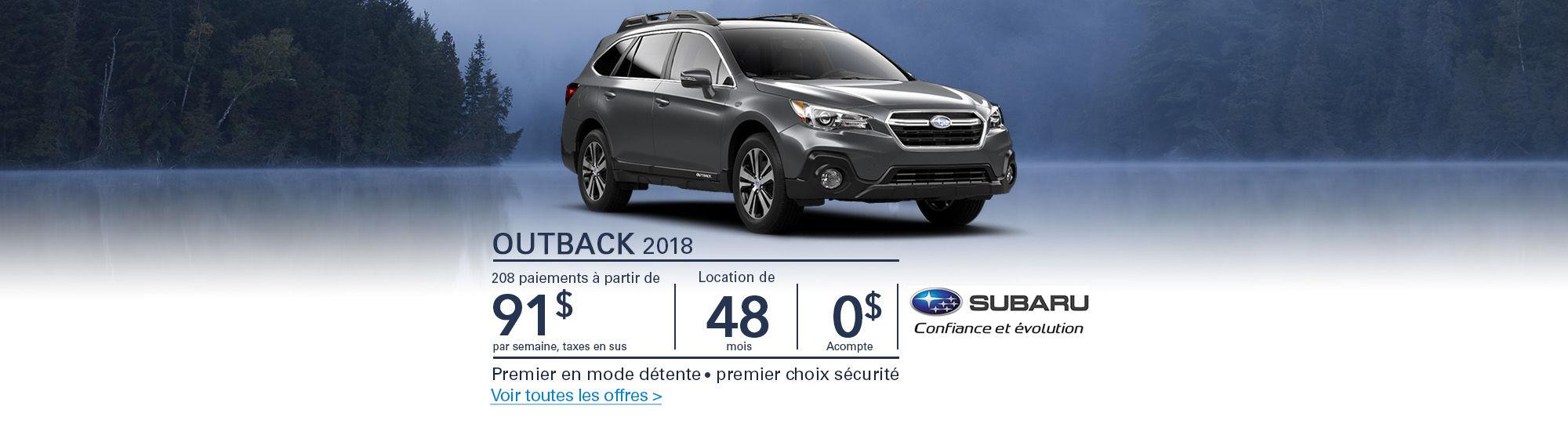 Subaru-Première en mode actif-Premier choix sécurité