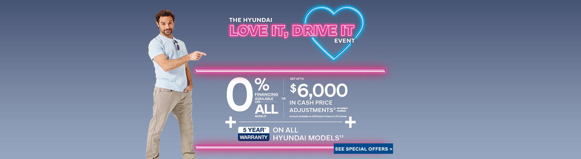 The Hyundai love it, drive it event