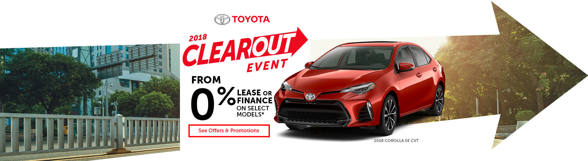 Toyota 2018 clearout event