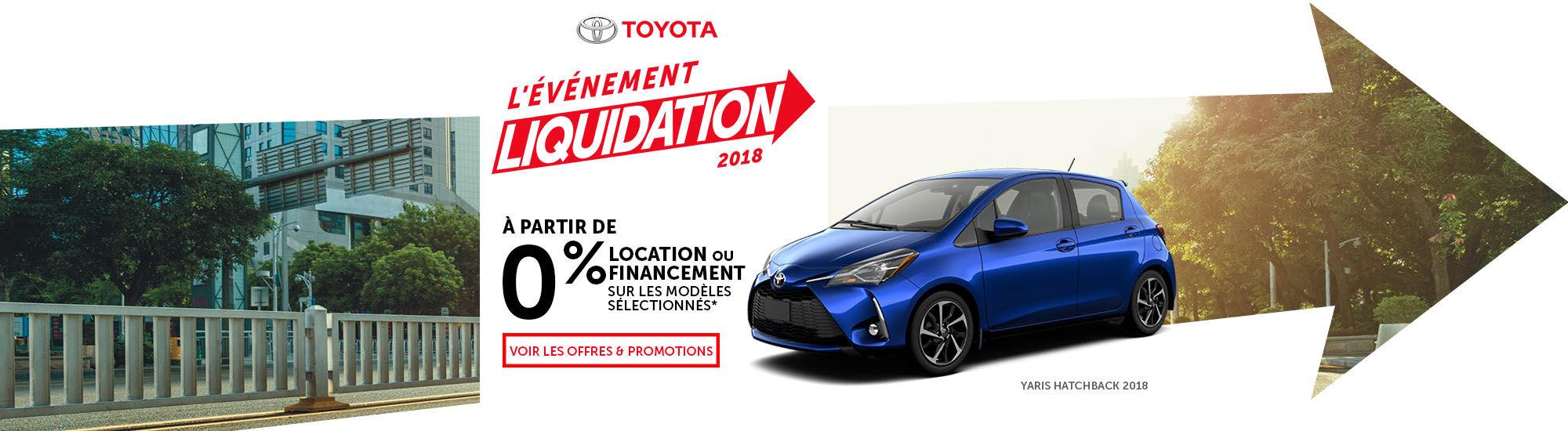 Toyota l'événement liquidation 2018