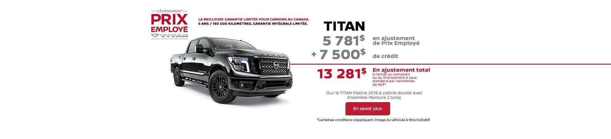 Titan événement Prix d'employé