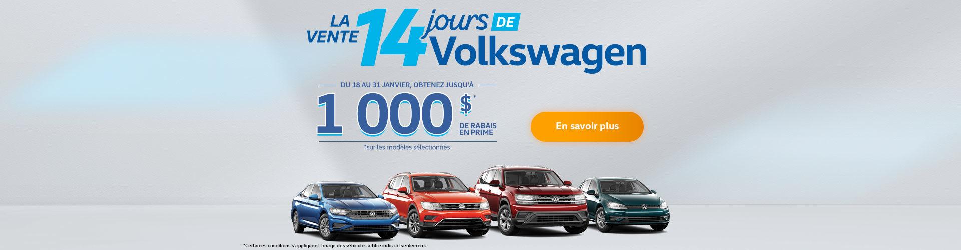 Événement salon de l'auto Volkswagen