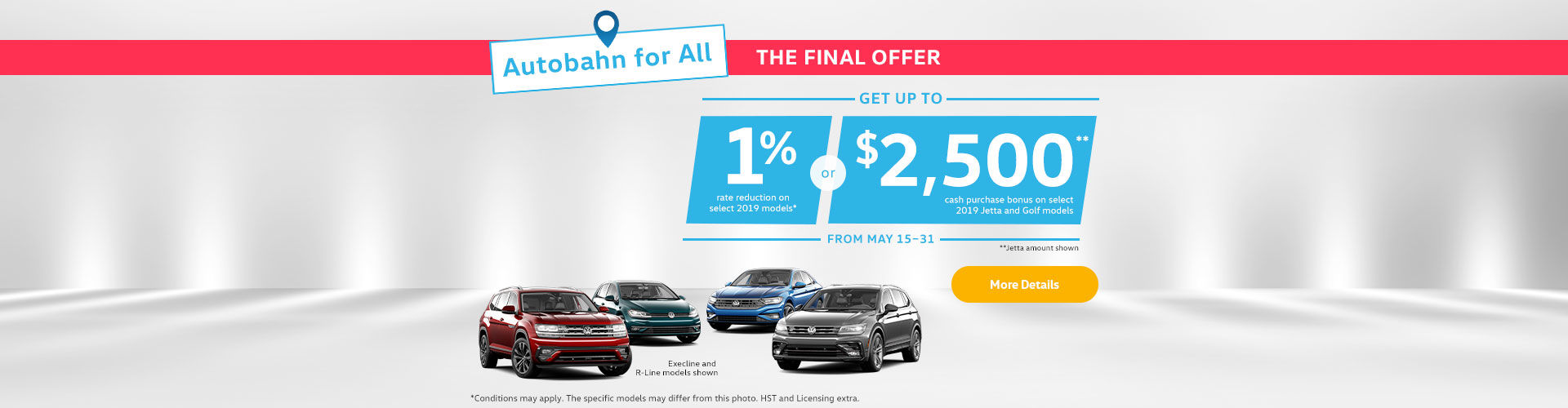 Volkswagen Autobahn Sales Event -  short sale