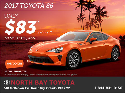 Save on the 2017 Toyota 86 Today!