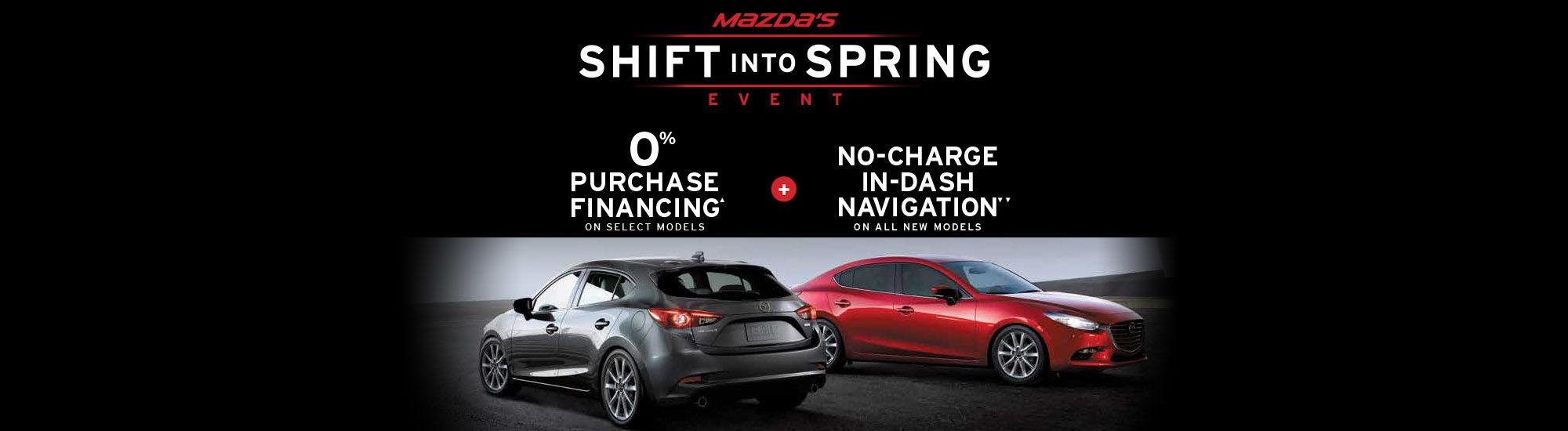 Mazda's Shift into spring event