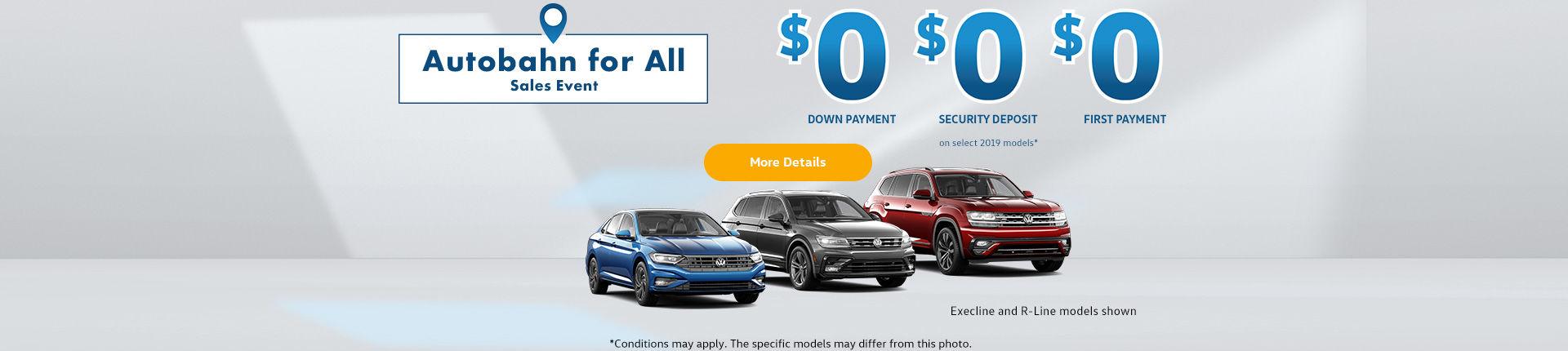 Volkswagen Autobahn sales event!