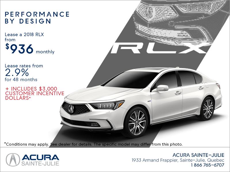Acura RLX Acura SainteJulie - Acura rlx lease