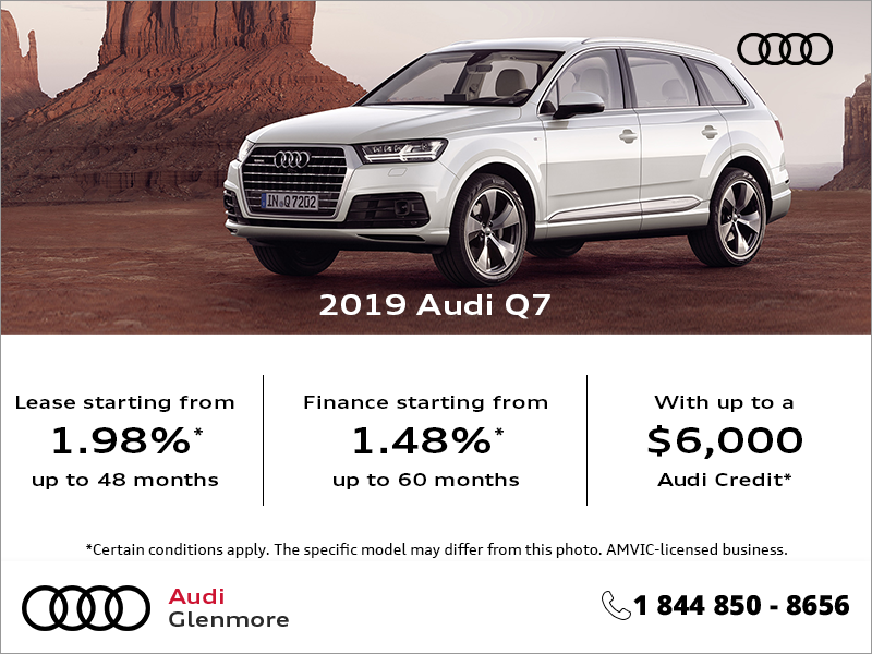 Get the 2019 Audi Q7 Today!