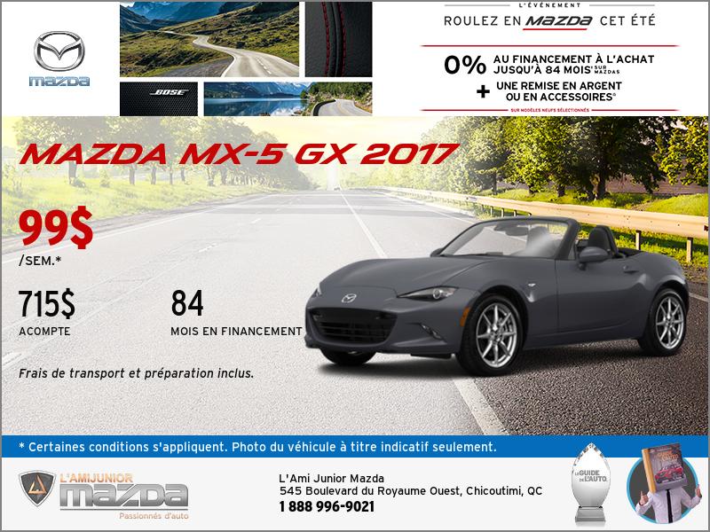 Louez la toute nouvelle Mazda MX-5 2017