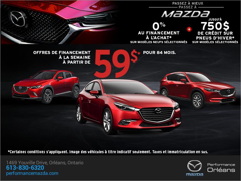 Passez à mieux, passez à Mazda chez Performance Mazda à Ottawa