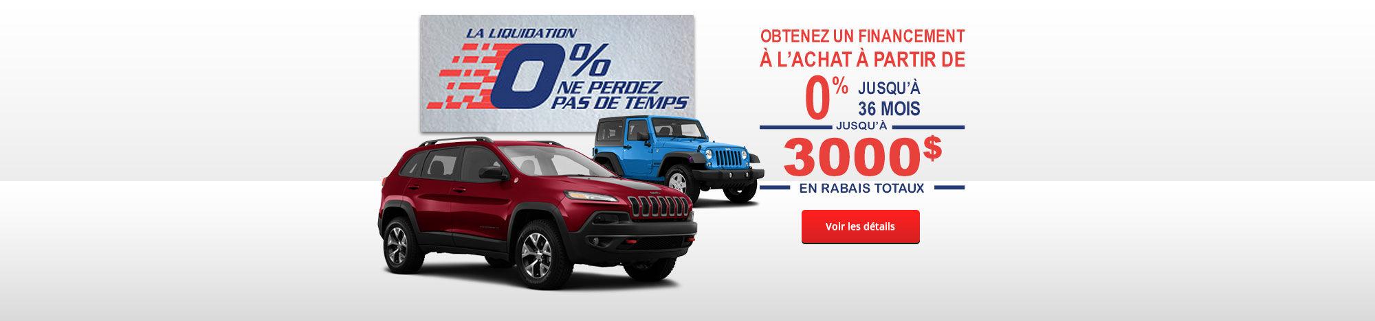 Liquidation ne perdez pas de temps Jeep Promo Septembre