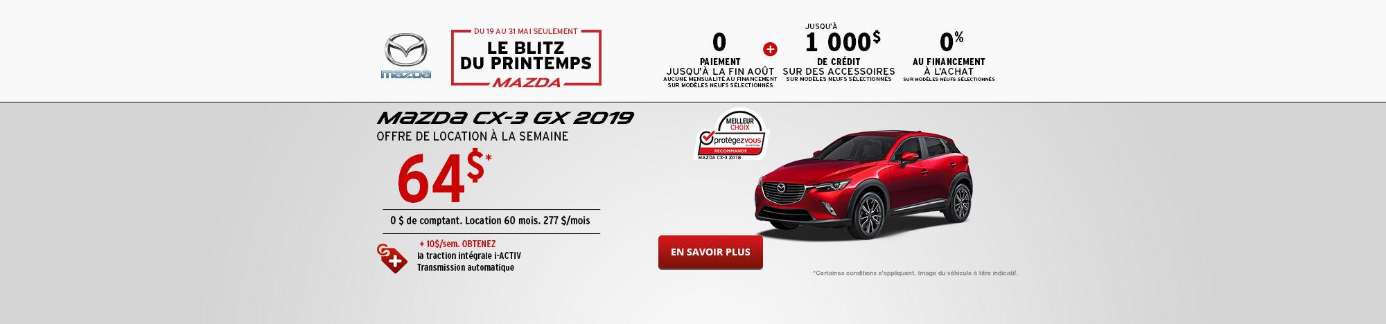 L'événement Passez en mode printemps Mazda CX-3 - Mai