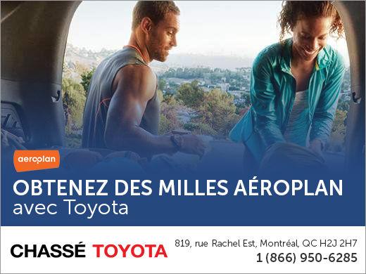 Obtenez des milles Aéroplan avec Toyota