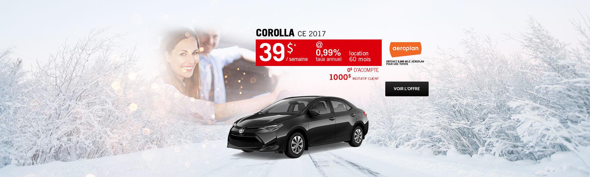 Saison des choix sensés - Corolla