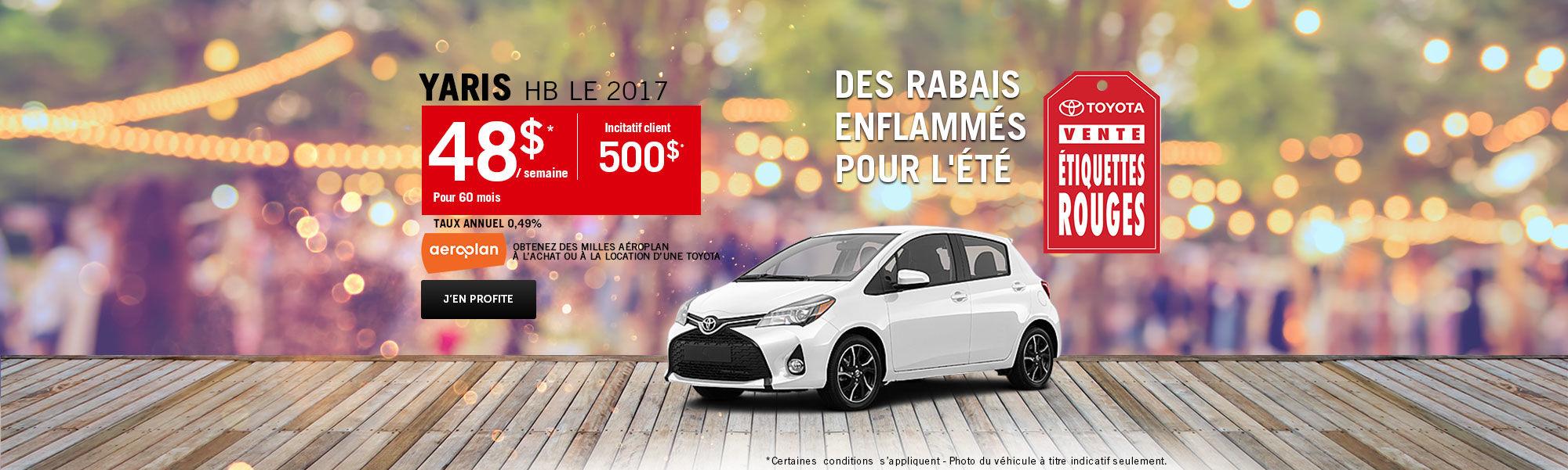 Vente étiquette rouges Toyota - Yaris