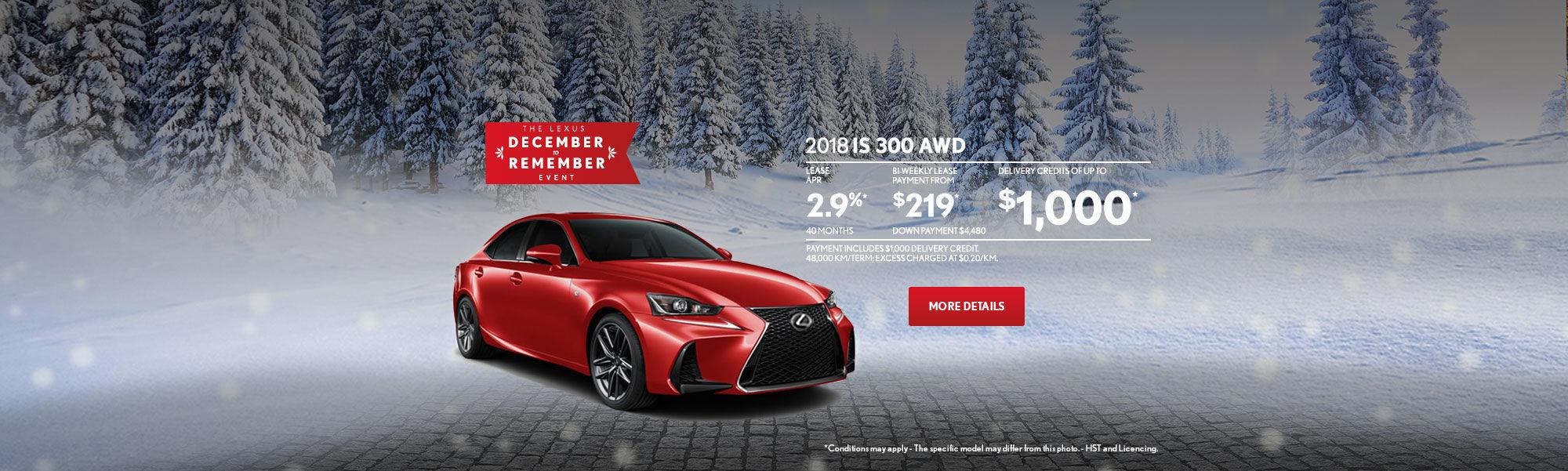 Lexus IS December