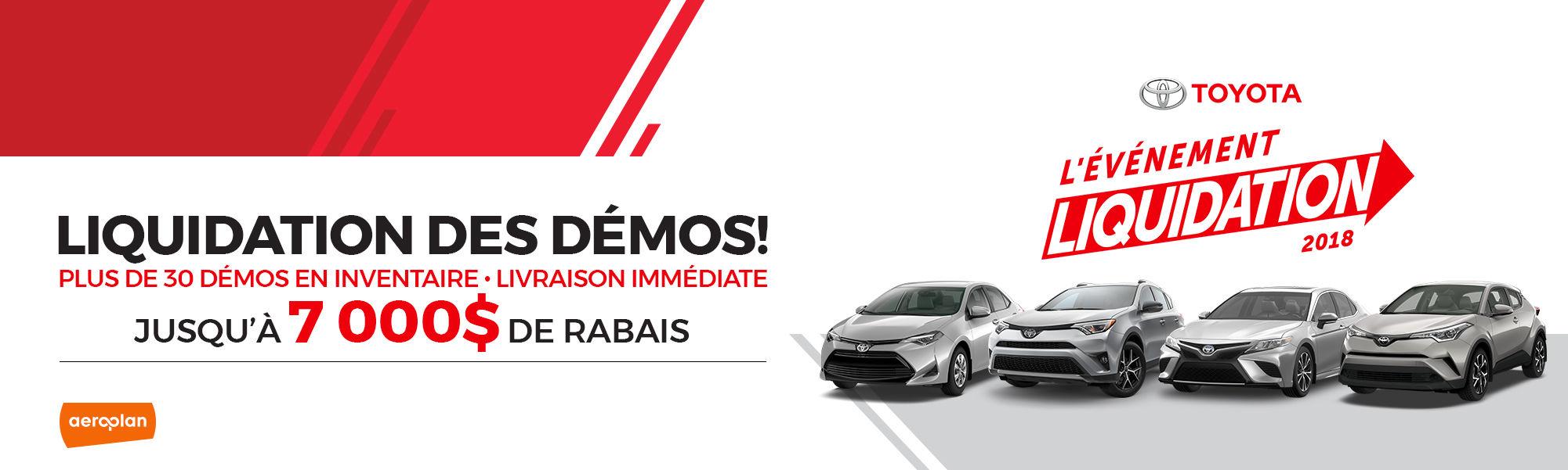 LIQUIDATION DES DÉMOS!
