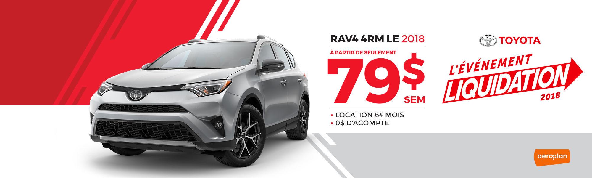 RAV4 4RM LE 2018