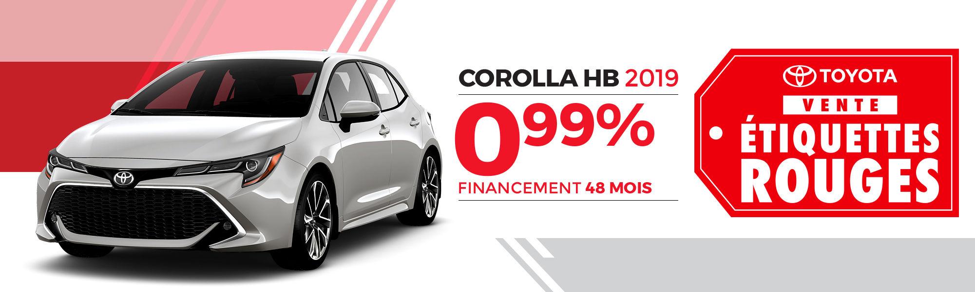 COROLLA HB 2019