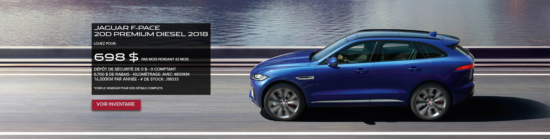 F-PACE 2018 Offre