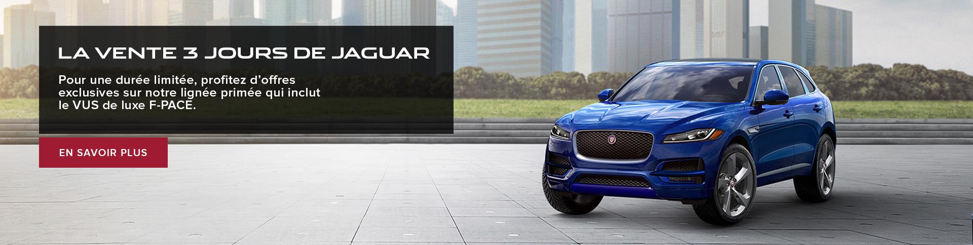 Jaguar vente 3 jours