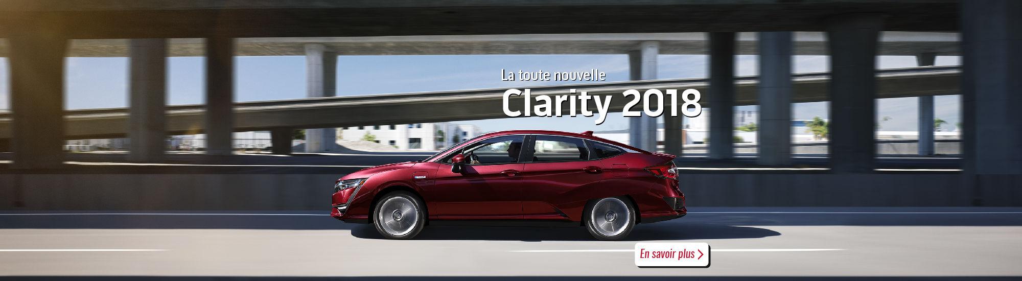 La toute nouvelle Honda Clarity 2018