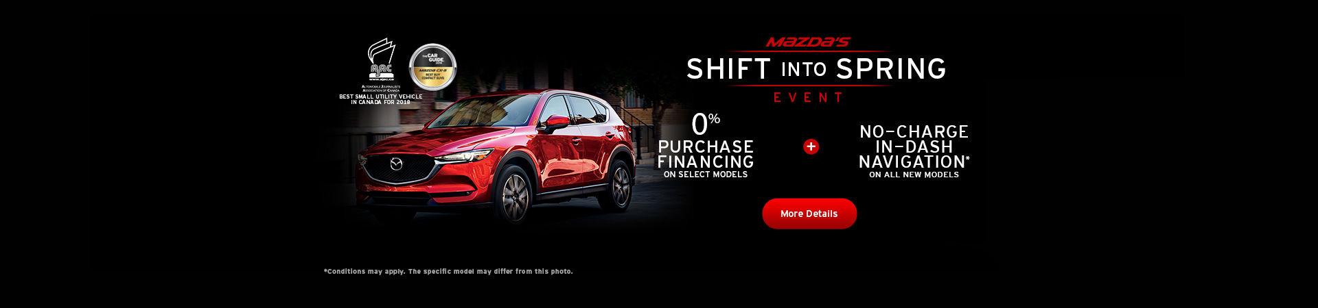Mazda Shift into Spring Event