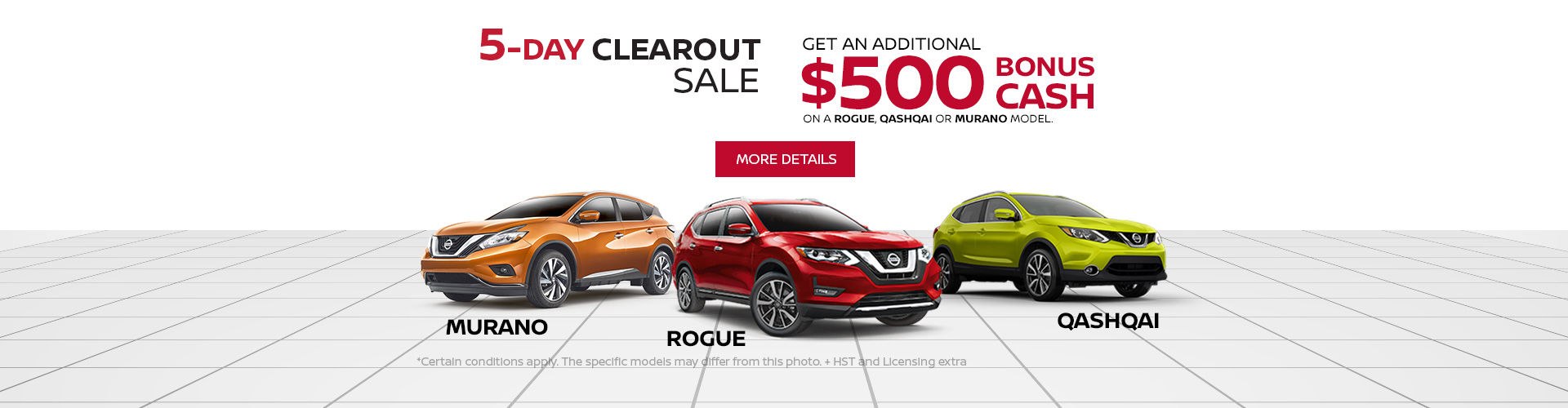 Nissan Clearout Event