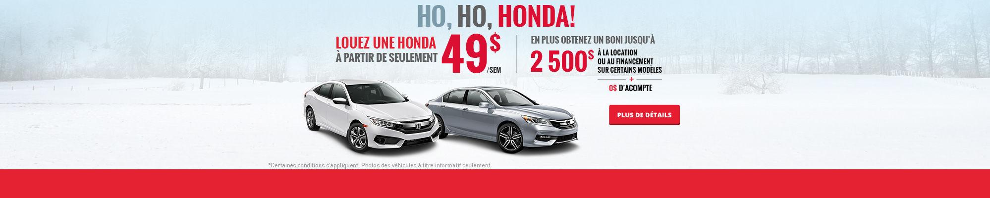 Ho, ho, Honda! - Décembre