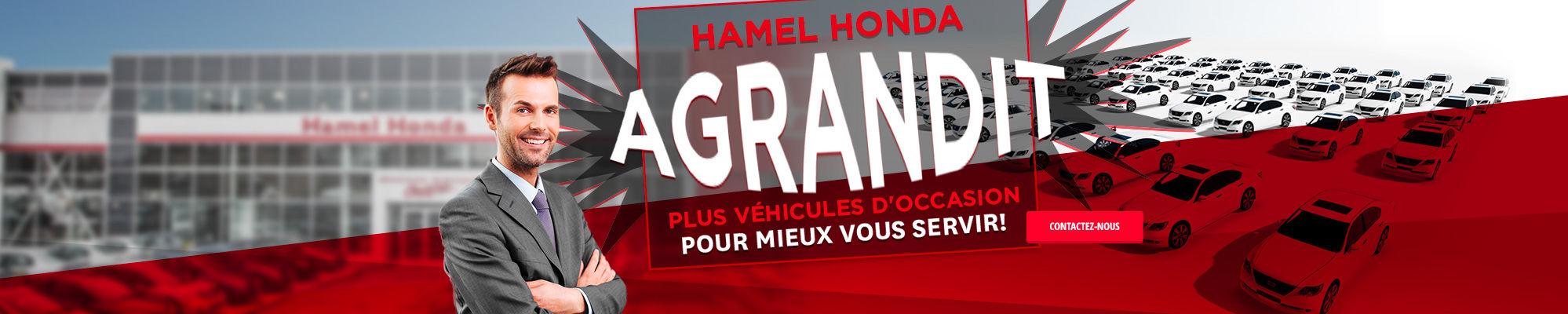 Hamel Honda s'agrandit !