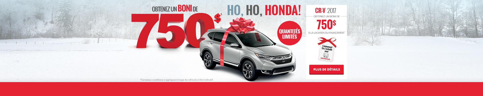 Ho, Ho, Honda! Louez une CR-V!