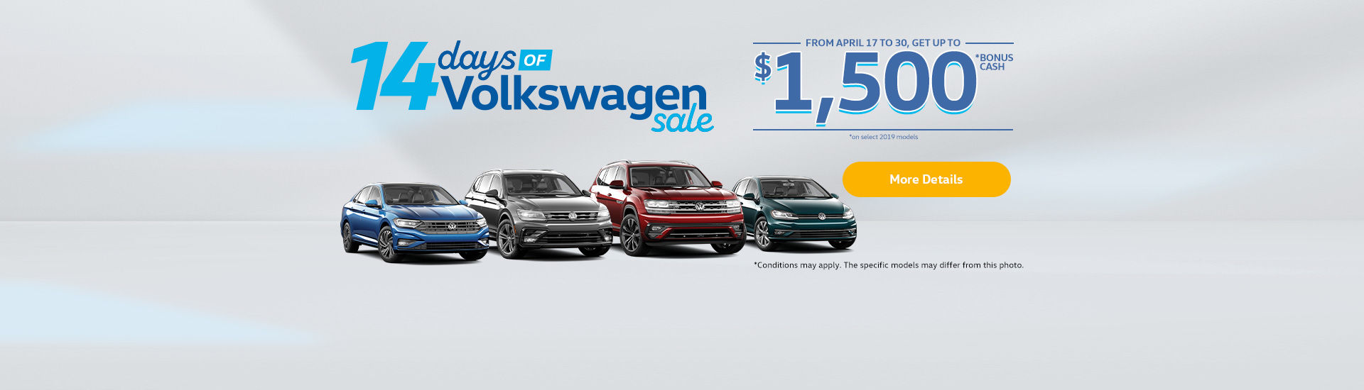 14 Days Volkswagen Sales Event