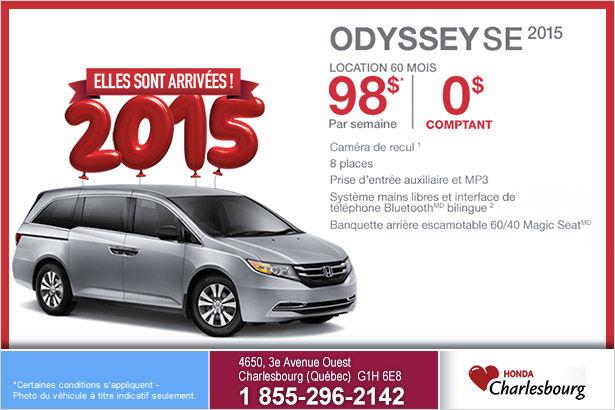 Louez le Honda Odyssey Se 2015 à compter de 98$ par semaine