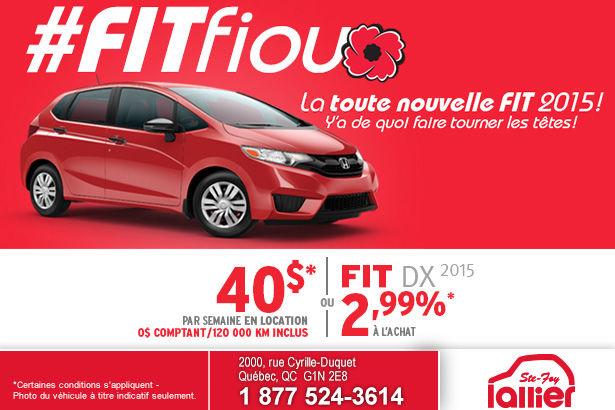 Louez la nouvelle Honda Fit DX 2015 à partir de 40$ par semaine