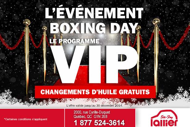 L'événement Boxing Day