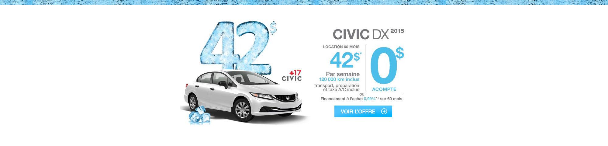 Promotions janvier-CIVIC
