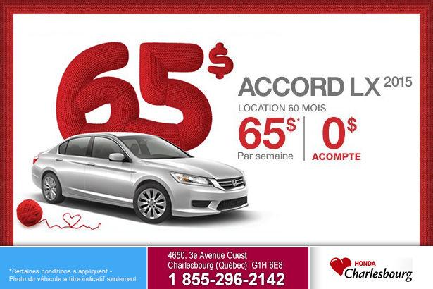 Louez le Honda Accord LX MT 2015 à 65$ par semaine