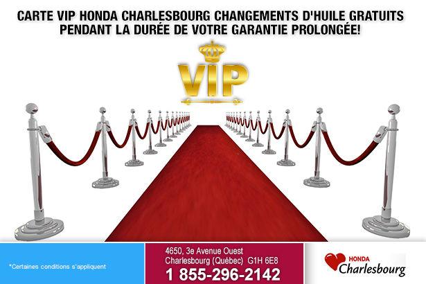 Carte VIP chez Honda Charlesbourg