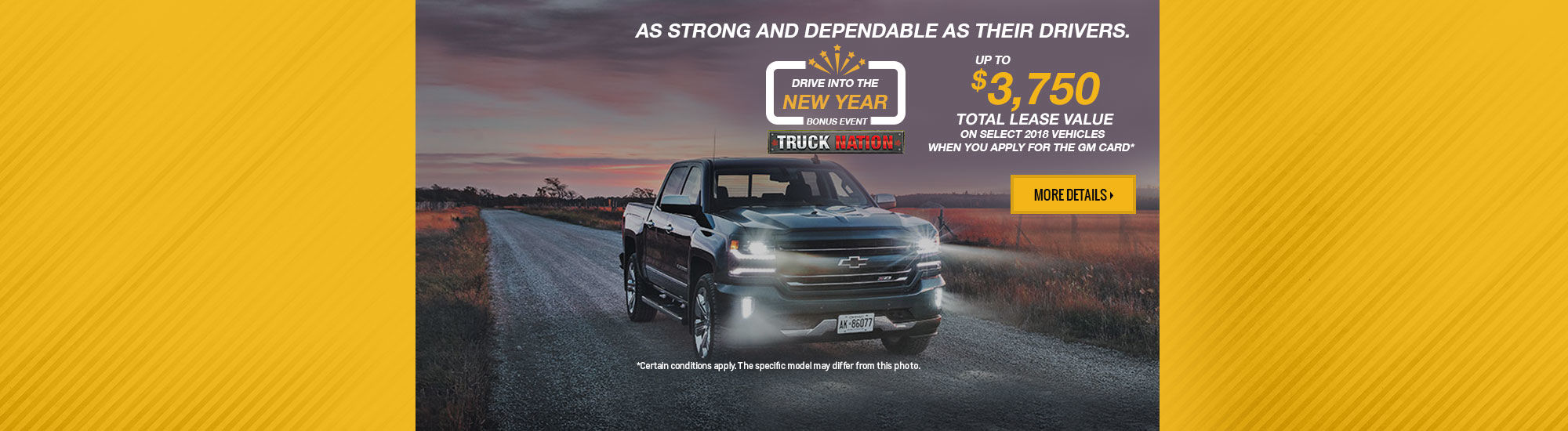 Drive Into the New Year Bonus Even - Chevrolet