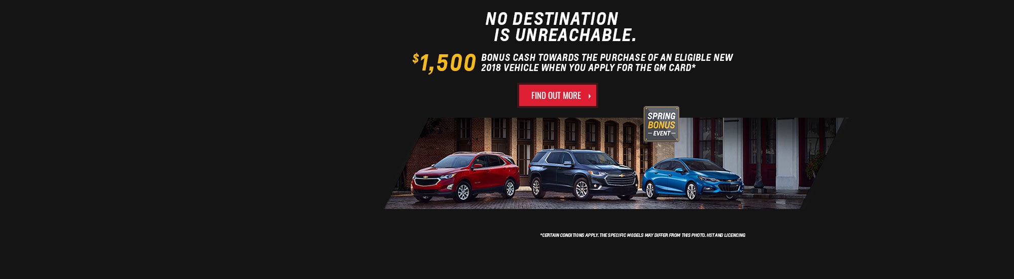 Spring Bonus Event - Chevrolet