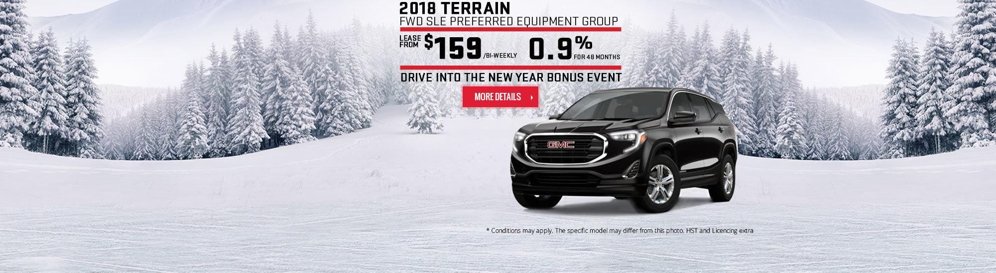 Drive Into the New Year Bonus Event - GMC - Terrain