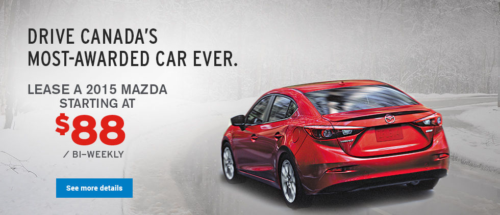 lease a 2015 mazda starting at $88 - February
