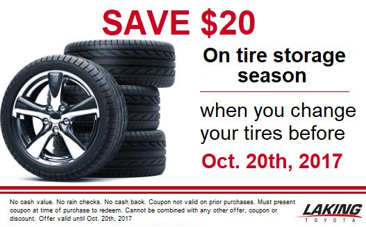 Save $20 on Tire Storage!