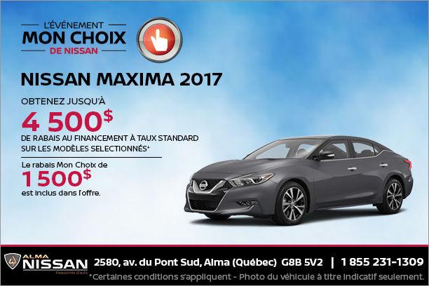 Nissan Maxima 2017 en rabais