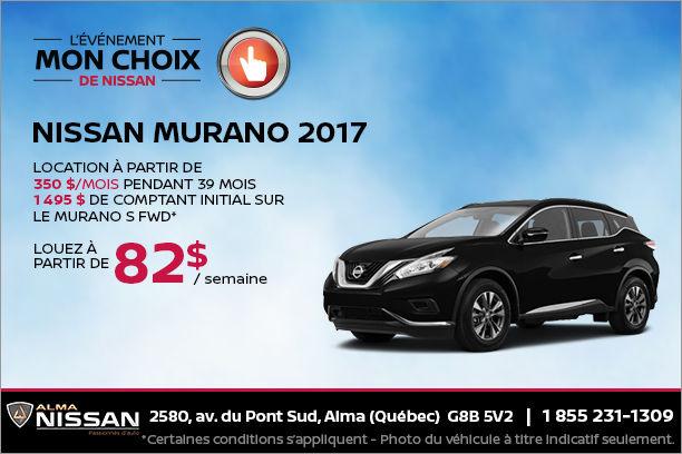 Nissan Murano 2017 en rabais
