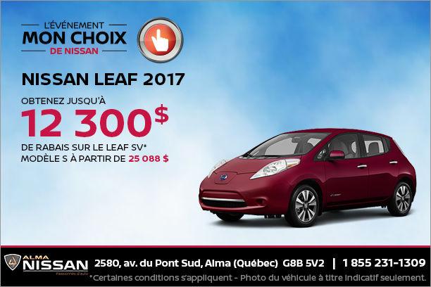 Nissan Leaf 2017 en rabais