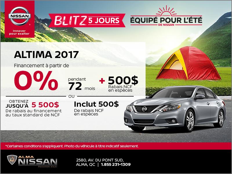 Nissan Altima 2017 | Blitz 5 jours